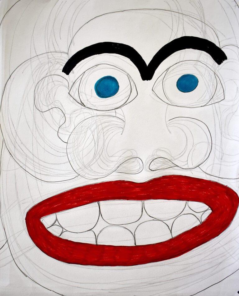 A close-up portrait of a woman