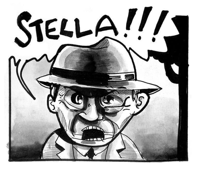 A man cries out, STELLA!