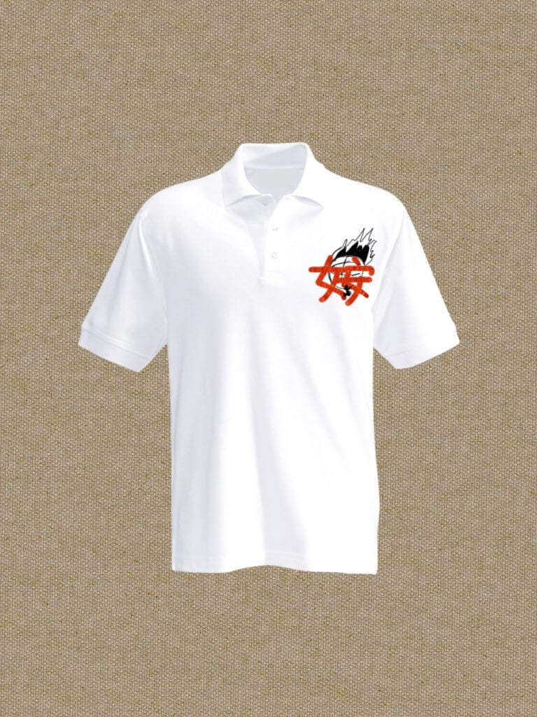 A digital shirt design with an Accept the Challenge logo