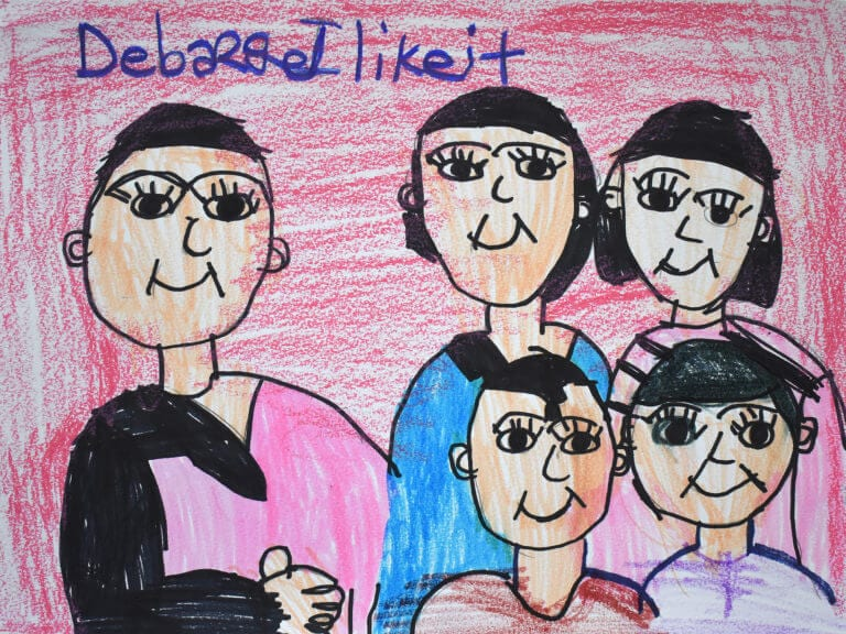 A tribute drawing of the singer,El DeBarge