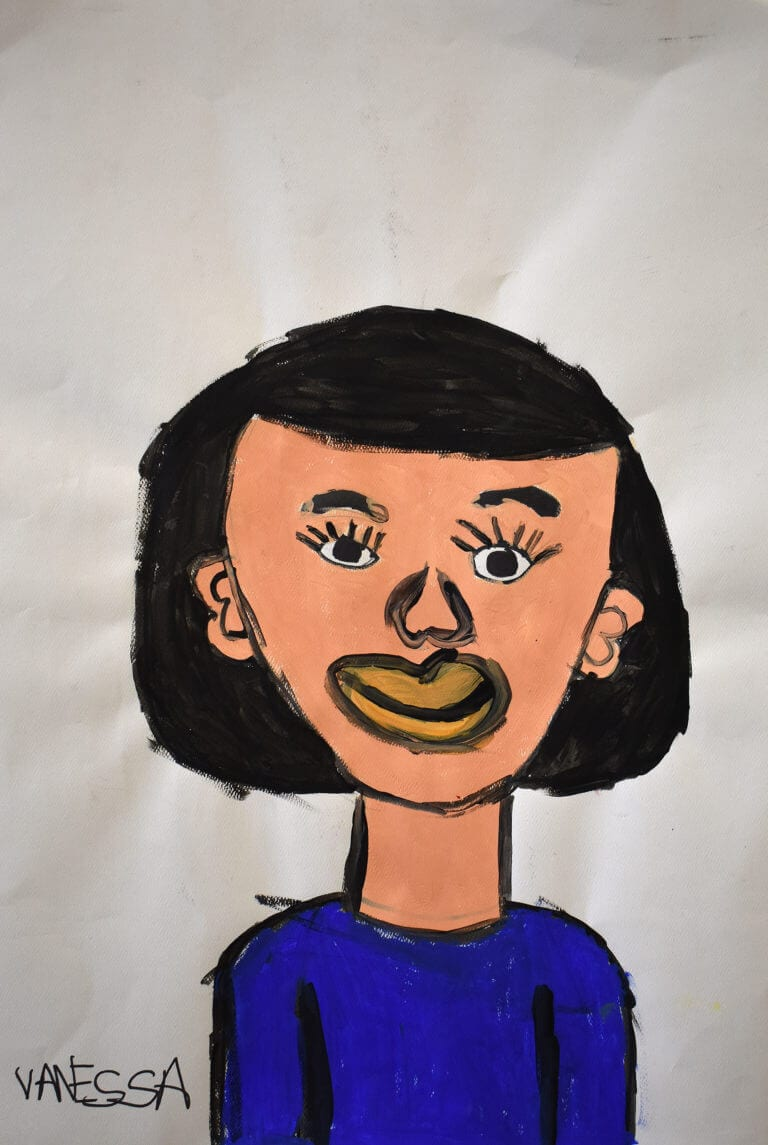 A portrait painted by Vanessa Feliciano