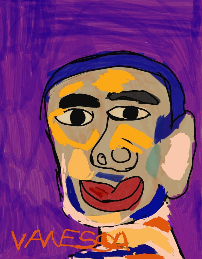 A digital portrait of a man
