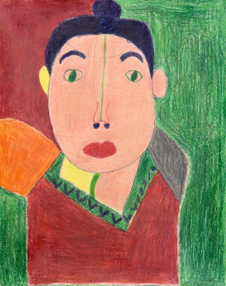 A colored pencil sketch of a Madame Matisse